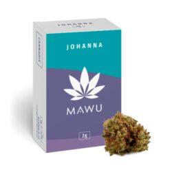 Mawu CBD Johanna 2g - náplň do vonné lampy                                      -Konopná náplň do vonné lampy Mawu CBD Johanna. Balení obsahuje celá sušená květenství rostliny konopí seté (Cannabis sativa L.) bez dalších přidaných složek. Možné zahřívat v olejové lázni nebo i samostatně. Konopí je pěstováno renomovanou rakouskou firmou MAWU, která garantuje nejvyšší kvalitativní standardy. Obsah THC je menší než 0,2%. Produkt není určen ke kouření.  Video z produkce##https://www.youtube.com/watch?v=hLDIdPowlks#000016#