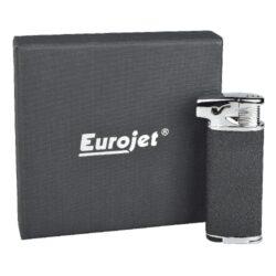 Dýmkový zapalovač Eurojet Burg, černostříbrný(257240)