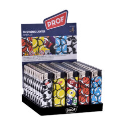 Zapalovač PROF Piezo 3D Balls-Plynový zapalovač PROF Piezo 3D Balls. Zapalovač není plnitelný a je vybavený fixním plamenem. Prodej pouze po celém balení (displej) 50 ks. Výška zapalovače 8 cm.