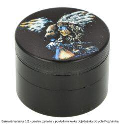 Drtič tabáku kovový WildFire Animals, 50mm(31211)