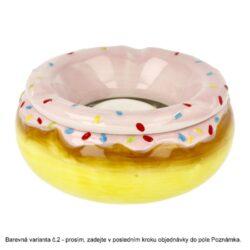 Cigaretový popelník keramický Donuts, 3mix(27014)