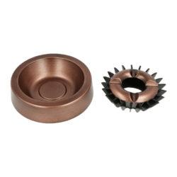 Cigaretový popelník kovový kulatý Copper, 13cm(510059)
