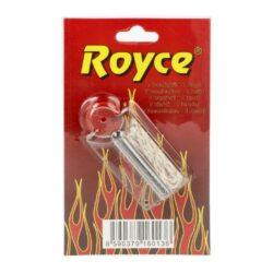 Kamínky + knot Royce-Kamínky a knoty Royce do benzínových zapalovačů. Jedno balení - plastový zásobník obsahuje 7 kamínků do zapalovače a knot s drátkem o délce cca 10cm, jehož délku si upravíte dle potřeby. Cena je uvedena za jedno balení(blistr).