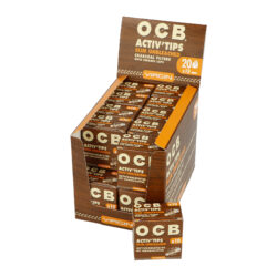 Cigaretové filtry OCB Virgin Activ Tips Slim 7mm, charcoal  (06500)
