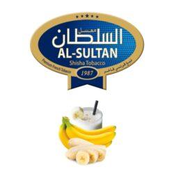 Tabák do vodní dýmky Al-Sultan Banana&milk (6), 50g/Z-Tabák do vodní dýmky Al-Sultan Banana & Milk s příchutí banánu. Tabáky Al-Sultan vyráběné v Jordánsku jsou známé svojí šťavnatostí, skvělou vůní, chutí a bohatým dýmem. Tabák do vodní dýmky je dodávaný v papírové krabičce po 50g.