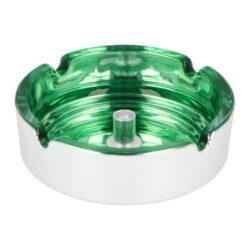 Cigaretový popelník skleněný 10cm zelený(11018.3)