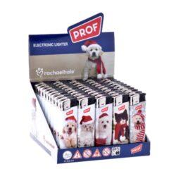 Zapalovač PROF Piezo Xmas Kitty & Puppy-Plynový zapalovač PROF Piezo Xmas Kitty & Puppy s vánoční tématikou. Zapalovač vybavený fixním plamenem není plnitelný. Prodej pouze po celém balení (displej) 50 ks. Výška zapalovače 8 cm.