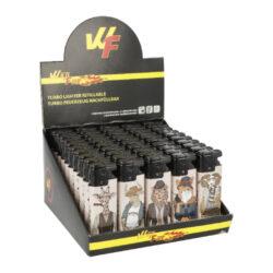 Zapalovač Wildfire Turbo Animals World-Žhavící zapalovač Wildfire Turbo Animals World. Zapalovač vybavený nastavením intenzity plamene je plnitelný. Prodej pouze po celém balení (displej) 50 ks. Výška zapalovače 8 cm.