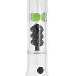 Skleněný bong s perkolací Grace Glass Box Beaker Green 46cm(AB06)
