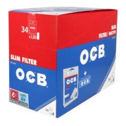 Cigaretové filtry OCB Slim + papírky OCB Blue(08200)