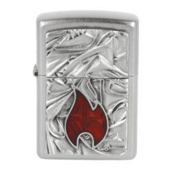 Zapalovač Zippo Soft Zippo Flame, satin(Z 204137)