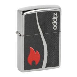 Zapalovač Zippo 250 Zippo and Flame, leštěný-Benzínový zapalovač Zippo 250 Zippo and Flame. Kvalitní zapalovač Zippo v leštěném chromovém provedení má přední stranu potištěnou černým jemně texturovaným motivem s červeným plamenem a logem Zippo. Zapalovač je dodávaný v originální krabičce s logem. Zapalovače Zippo nejsou při dodání naplněné benzínem. Originální příslušenství benzín Zippo, kamínky, knoty a vata do zapalovače Zippo, zajistí správné fungování benzínové zapalovače. Na mechanické závady zapalovače poskytuje Zippo doživotní záruku. Tuto záruku můžete uplatnit přímo u nás. Zapalovače jsou vyrobené v USA, Original Zippo® Bradford.
