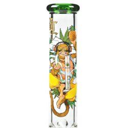 Skleněný bong Black Leaf Hanuman Cylinder, 40cm(2618102)