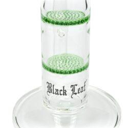 Skleněný bong s perkolací Black Leaf HoneyComb, 55cm(241823-37)