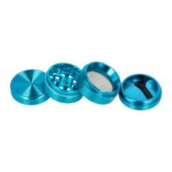 Drtič tabáku Black Leaf Groove ALU Blue kovový, 40mm(430116-30)