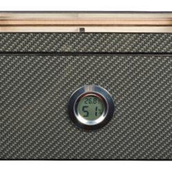 Humidor na doutníky Carbon Glasstop Digi(29107)