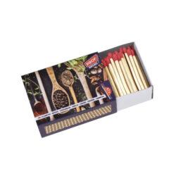 Zápalky Prof Cooking, 47mm-Zápalky Prof Cooking. Klasické zápalky pro domácnost pro zapalování sporáků, svíček apod. Krabička obsahuje 240 ks zápalek. Délka zápalky 4,7 cm. Prodej po celém balení 3 ks. Cena uvedená za 1 ks (krabičku).