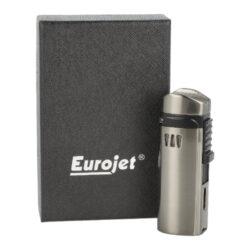 Doutníkový zapalovač Eurojet Alborg 3xjet, šedý(221011)
