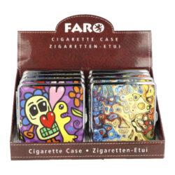 Cigaretové pouzdro kovové Graffiti 4mix., 20cig.(21024)