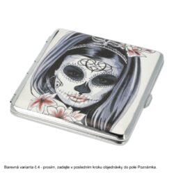 Cigaretové pouzdro kovové Skull colored 4mix., 20cig.(21023)