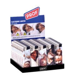 Zapalovač PROF Piezo So Cute-Plynový zapalovač PROF Piezo So Cute. Zapalovač není plnitelný a je vybavený nastavením intenzity plamene. Prodej pouze po celém balení (displej) 50 ks. Výška zapalovače 8 cm.