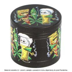 Drtič tabáku kovový WildFire Hemp, 6mix(31263)