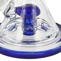 Skleněný bong s difuzérem WildFire modrý, 21cm(31502)
