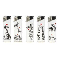 Zapalovač Cool Piezo Giraffe & Zebra(017701)