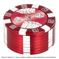 Drtič tabáku kovový Poker, 51mm(07002)