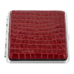 Cigaretové pouzdro kožené červené, 20cig.(06312)
