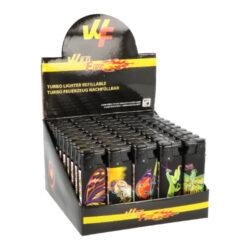 Zapalovač Wildfire Turbo Animal-Žhavící zapalovač Wildfire Turbo Animal. Zapalovač vybavený nastavením intenzity plamene je plnitelný. Prodej pouze po celém balení (displej) 50 ks. Výška zapalovače 8 cm.