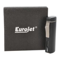 Doutníkový zapalovač Eurojet Namdal 3-Jet, černý matný(256014)