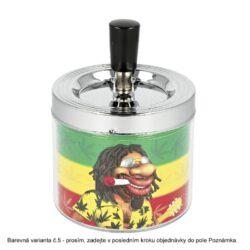 Cigaretový popelník kovový otočný Rasta, 9cm(11003)