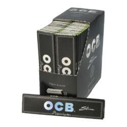 Cigaretové papírky OCB Slim Premium-Cigaretové papírky OCB Slim PREMIUM s hologramem. Knížečka obsahuje 32 papírků. Rozměry papírku: 45x109mm. Prodej pouze po celém balení (displej) 50ks.