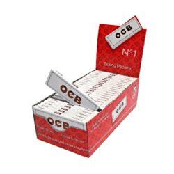 Cigaretové papírky OCB 1-Cigaretové papírky OCB 1. Knížečka obsahuje 50ks cigaretových papírků. Rozměry papírku: 36x69mm. Prodej pouze po celém balení (displej) 50ks. Cena je uvedená za 1ks.