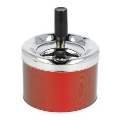 Cigaretový popelník otočný kovový, malý-Cigaretový popelník otočný. Samozhášecí popelník na cigarety je kovový, průměr 7,5 - 9cm. Cena je uvedena za 1 ks. Před odesláním objednávky uveďte číslo barevného provedení do poznámky.
