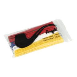 Čističe dýmek Angelo, barevné, 100ks-Dýmkové čističe barevné. Čističe jsou dlouhé 15 cm. Čističe dýmek jsou balené po 100 ks.