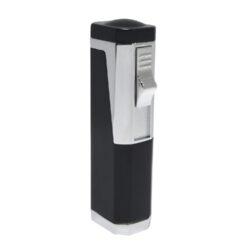 Doutníkový zapalovač Eurojet Rio, černý-Doutníkový zapalovač. Tryskový zapalovač na doutníky obsahuje integrovaný vyštípávač. Zapalovač je plnitelný. Doutníkový zapalovač je dodáván v dárkové krabičce. Výška 7,7cm.