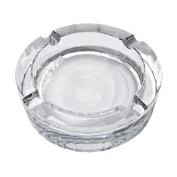 Doutníkový popelník křišťálový, kulatý-Doutníkový popelník na čtyři doutníky, křišťálový. Kulatý popelník na doutníky má průměr 12cm.