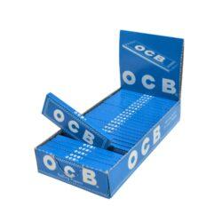 Cigaretové papírky OCB Blue-Cigaretové papírky OCB Blue. Knížečka obsahuje 50ks papírků se seříznutými rohy. Rozměry papírku: 36x69mm. Prodej pouze po celém balení 25ks. Cena je uvedená za 1ks.