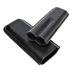 Pouzdro na 2 doutníky Etue Angelo, černé, kožené, 180mm(81213)