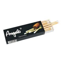 Zápalky doutníkové Angelo, 18ks-Doutníkové zápalky Angelo. Speciální dlouhé zápalky určené na zapalování doutníků. Krabička 18 ks zápalek. Délka 10 cm.