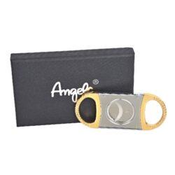 Doutníkový ořezávač Angelo, zlatostříbrný(50036)