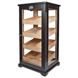 Humidor na doutníky Cabinet Gastro VG 5206 100D, skříňový-Skříňový humidor na doutníky s kapacitou cca 100 doutníků. Dodáván s vlhkoměrem a zvlhčovačem. Vnitřek humidoru je vyložený cedrovým dřevem. Rozměr: 69x33,5x29,5 cm.