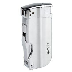 Dýmkový zapalovač Hadson Pipe Multi, chrom-Dýmkový zapalovač Hadson s trojdílným příslušenstvím pro dýmku. Kvalitně zpracovaný kovový zapalovač pro kuřáky dýmky s bočním plamenem je v chromovém broušeném provedení s prvky v lesklém chromu. Dýmkový zapalovač je vybaven praktickým integrovaným dýmkovým příslušenstvím, které každý kuřák dýmky každodenně potřebuje. Na spodní straně zapalovače najdeme plnící ventil a ovládání intenzity plamene. Zapalovač je dodávaný v dárkové krabičce. Výška 7,5cm.