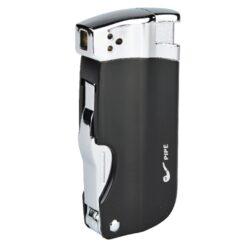Dýmkový zapalovač Hadson Pipe Multi, černý-Dýmkový zapalovač. Integrované dýmkové příslušenství. Dýmkový zapalovač je plnitelný a je dodáván v dárkové krabičce.