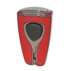 Tryskový zapalovač Lamborghini Forza, červený-Stylový tryskový zapalovač Tonino Lamborghini Forza. Kvalitně zpracovaný zapalovač obsahuje na spodní straně nastavení intenzity plamene a ventil pro plnění. Na přední straně najdeme okénko, kde je možné vidět hladinu plynu v zapalovači. Tryskový zapalovač je dodáván v kožené krabičce vyložené jemným sametem. Výška 7cm.