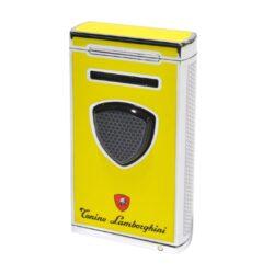 Doutníkový zapalovač Lamborghini Pergusa, žlutý-Luxusní doutníkový zapalovač Tonino Lamborghini Pergusa. Kvalitně zpracovaný tryskový zapalovač na zapalování doutníků obsahuje na spodní straně integrovaný vyštípávač, nastavení intenzity plamene a ventil pro plnění zapalovače. Na zadní straně najdete okénko, kde je možné vidět hladinu plynu v zapalovači. Doutníkový zapalovač je dodáván v kožené krabičce vyložené jemným sametem. Výška 7cm.