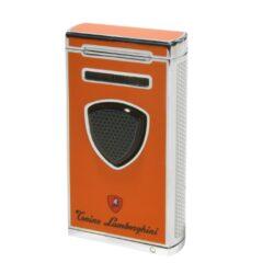 Doutníkový zapalovač Lamborghini Pergusa, oranžový-Doutníkový zapalovač. Tryskový zapalovač Pergusa Tonino Lamborghini na zapalování doutníků. Zapalovač obsahuje integrovaný vyštípávač a je plnitelný. Výška 7cm. Doutníkový zapalovač je dodáván v dárkové krabičce.