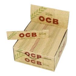 Cigaretové papírky OCB Slim Organic-Cigaretové papírky OCB Slim Organic. Knížečka 32 papírků. Ultratenký konopný papír. Prodej pouze po celém balení (displej) 50 ks.